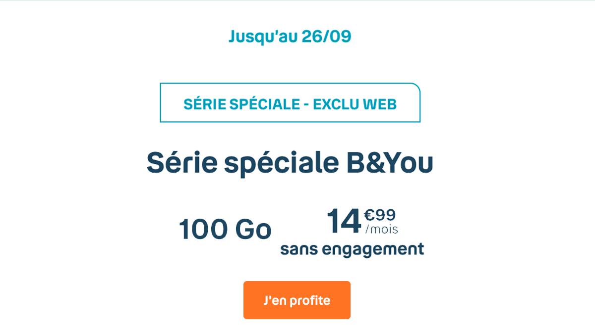 B&You et son offre de contrat 100 Go de 4G