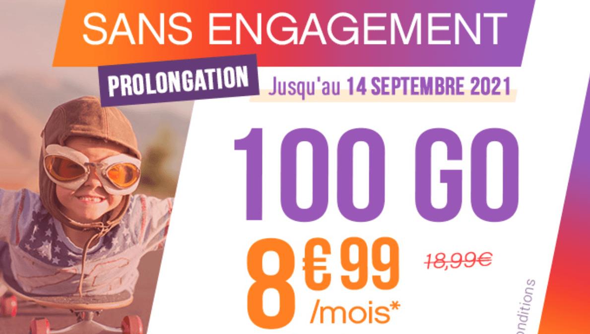 Offre forfait mobile 100 Go chez Coriolis Telecom