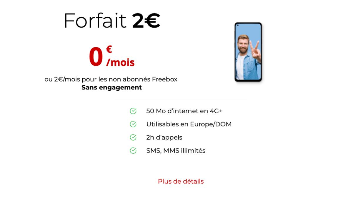 Le forfait 0€ de Free