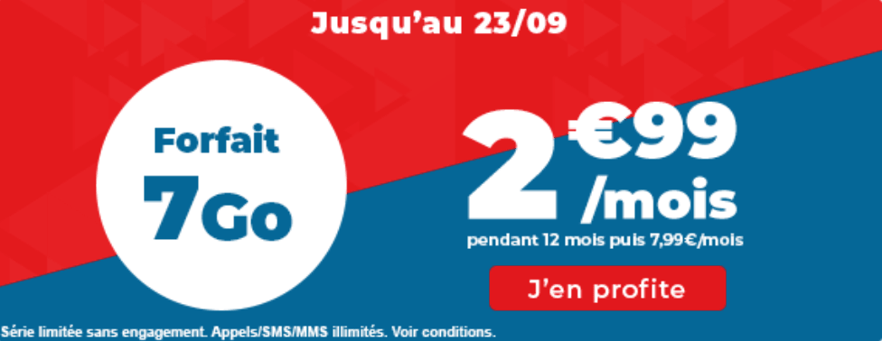 La promo à 2,99€ de Auchan Telecom