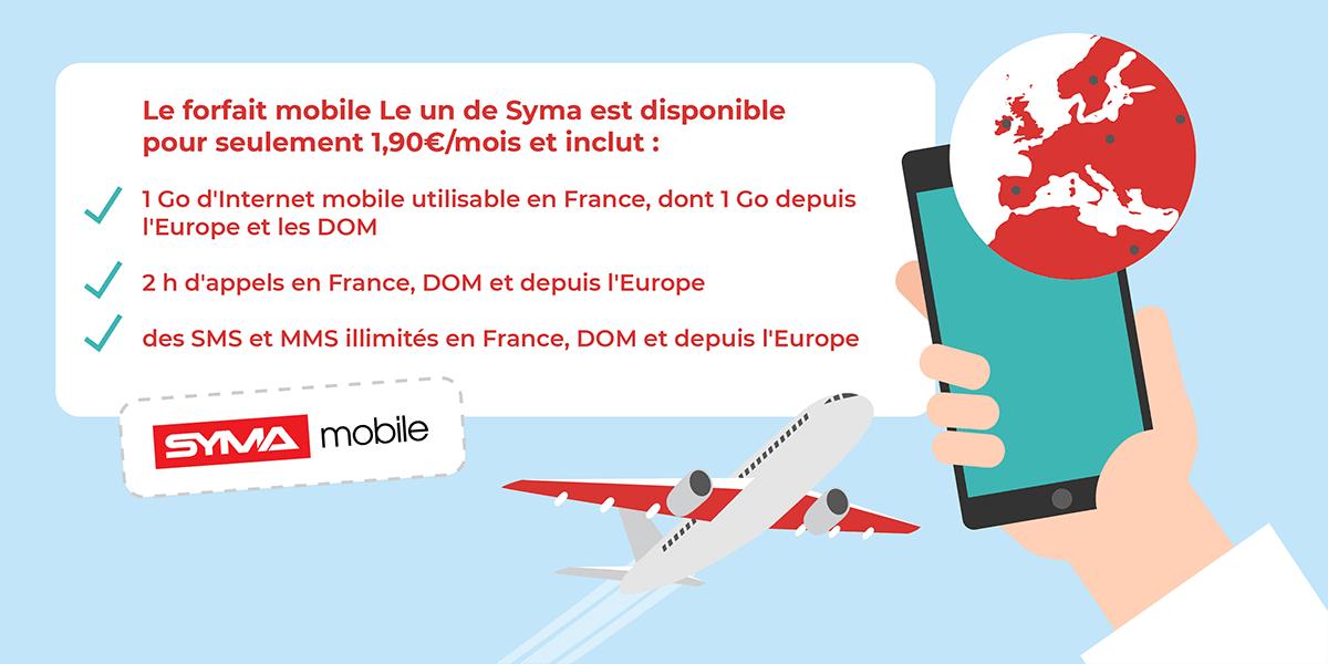 Le forfait mobile à 2€ de Syma