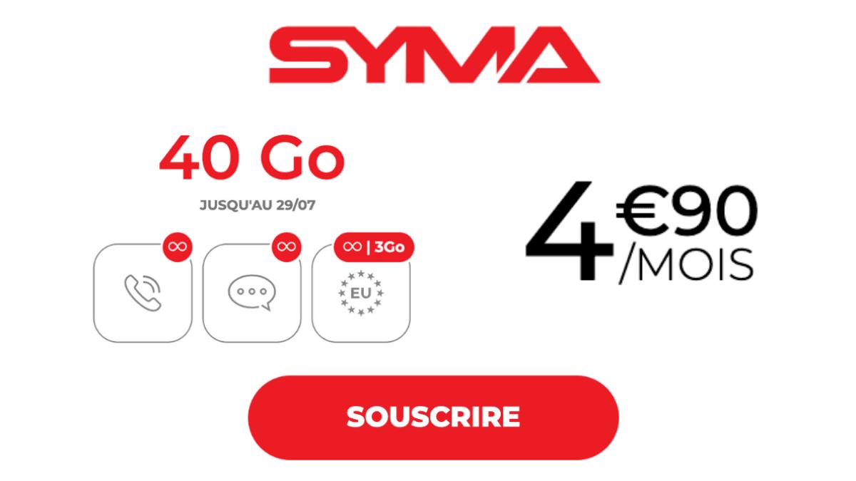 Syma Mobile et son forfait à 5€