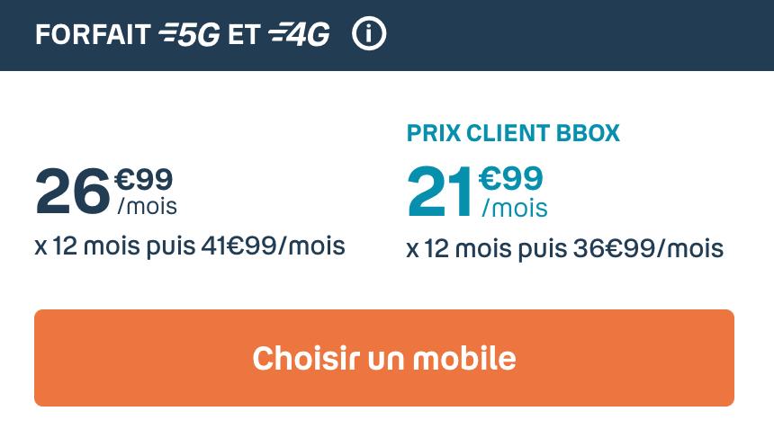 Le forfait 60 Go de Bouygues
