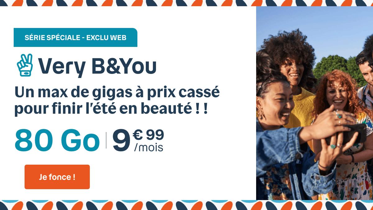 Offres de la série limitée Very B&YOU : 80 Go pour 9,99€