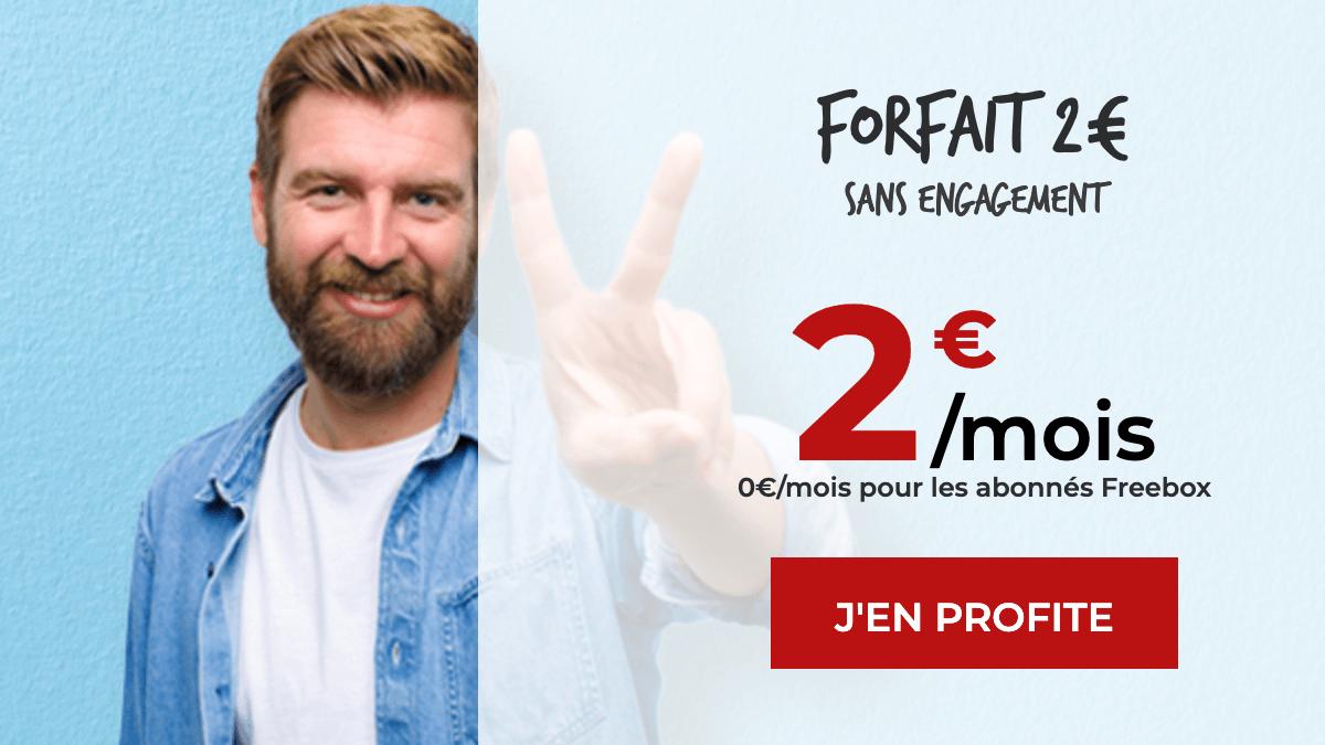Le fameux forfait mobile à 2€ de Free Mobile