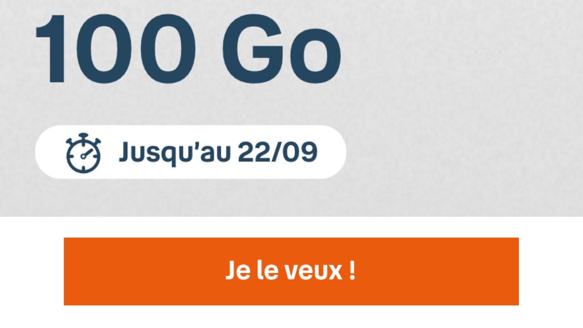 Forfait pas cher 100 Go de B&You