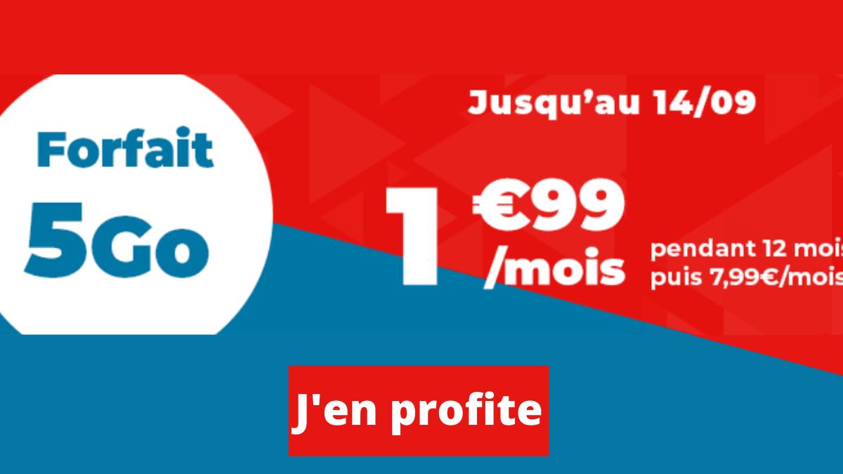 Forfait pas cher deux euros Auchan