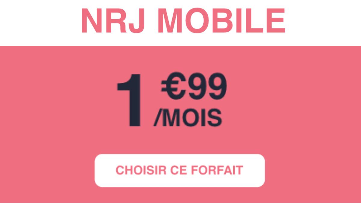 Forfait pas cher deux euros NRJ