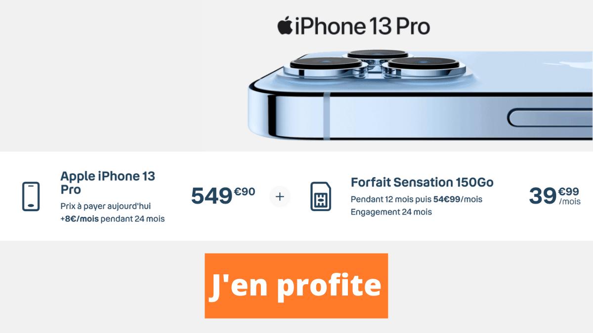 Forfait Sensation 150 Go iPhone 13 Pro
