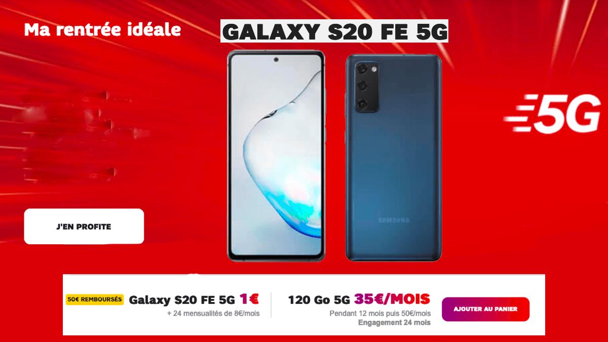 Le Galaxy S20 FE à 1€ avec Samsung