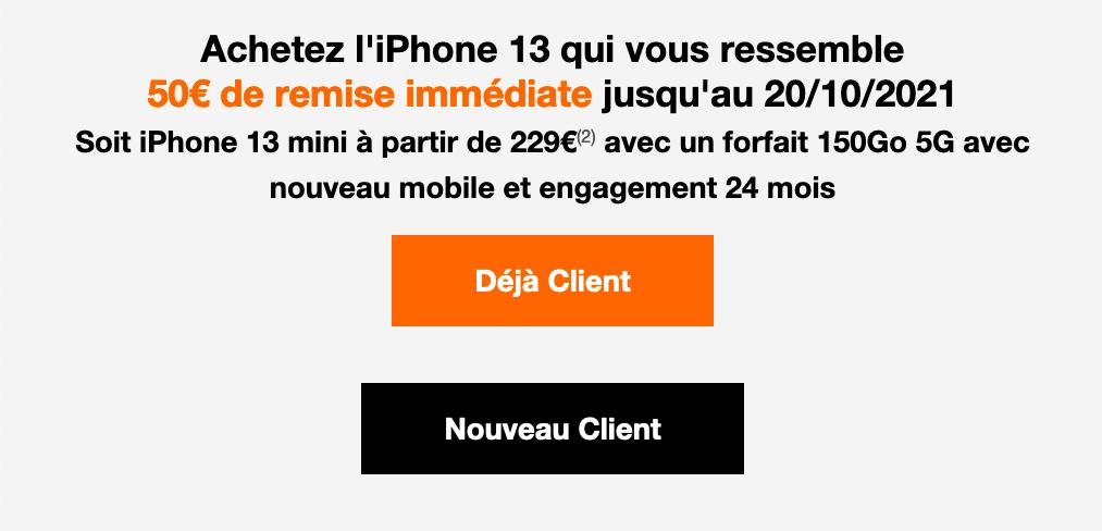 Prix iPhone 13 Orange