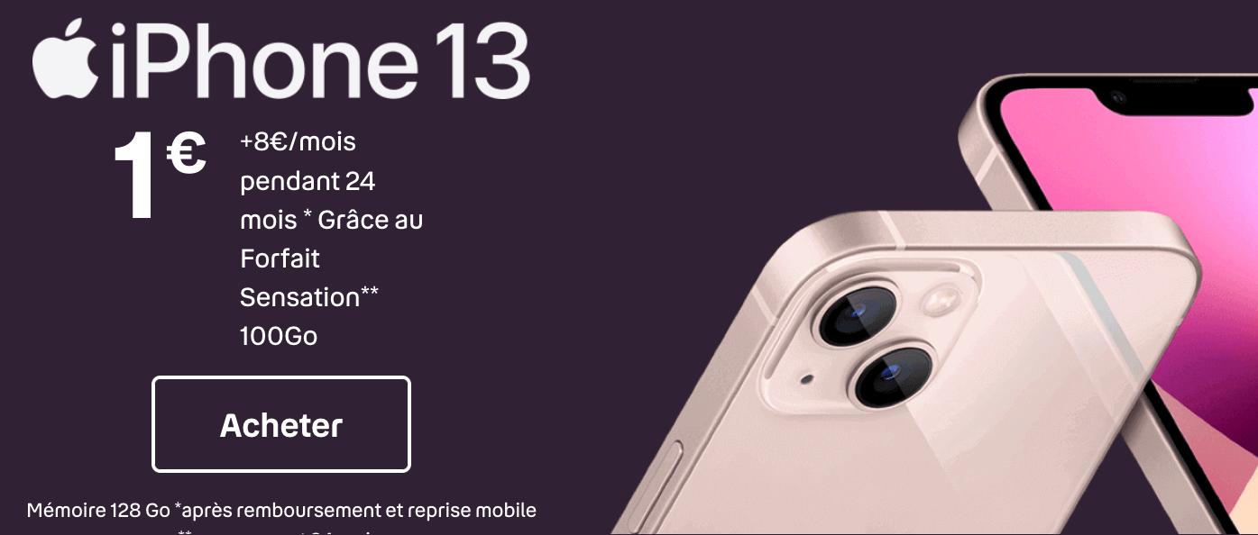 """L""""iPhone 13 à 1 euro"""