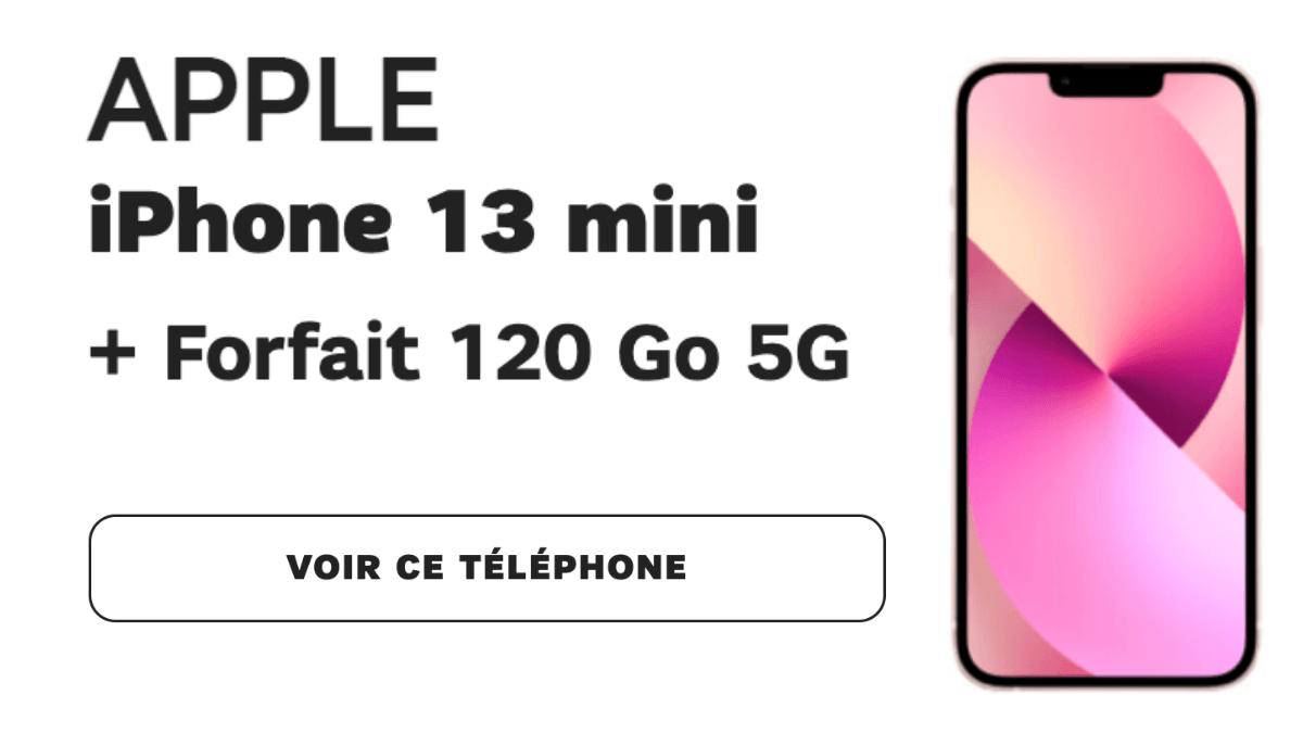 iPhone 13 mini avec SFR