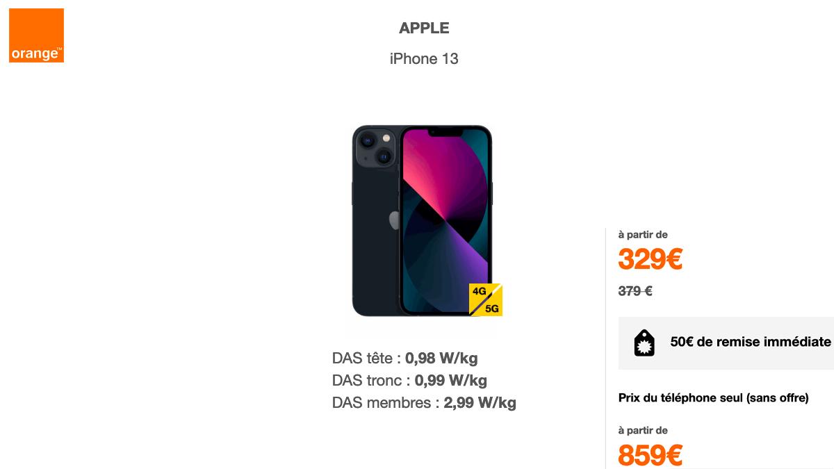 L'iPhone 13 est disponible en précommande chez Orange