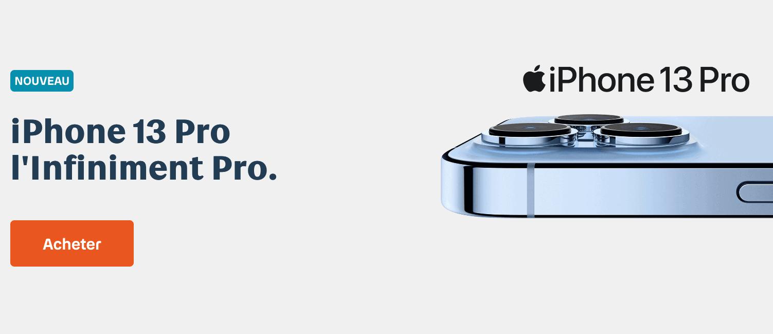 """L""""iPhone 13 Pro avec Bouygues"""