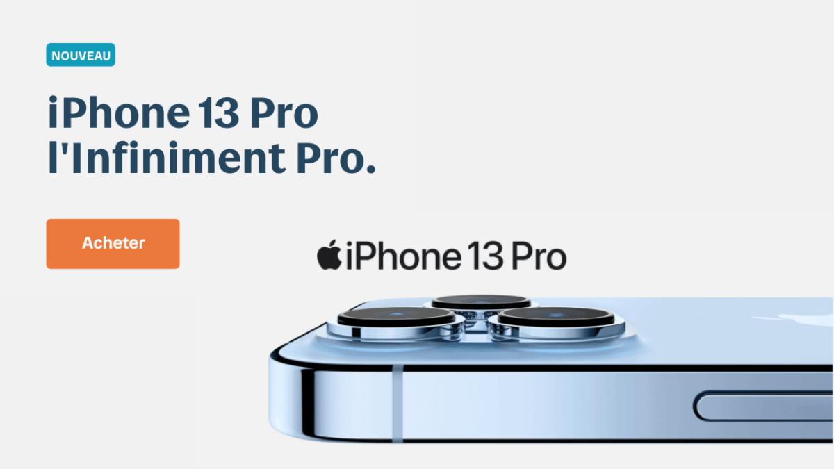 iPhone 13 Pro moitié prix