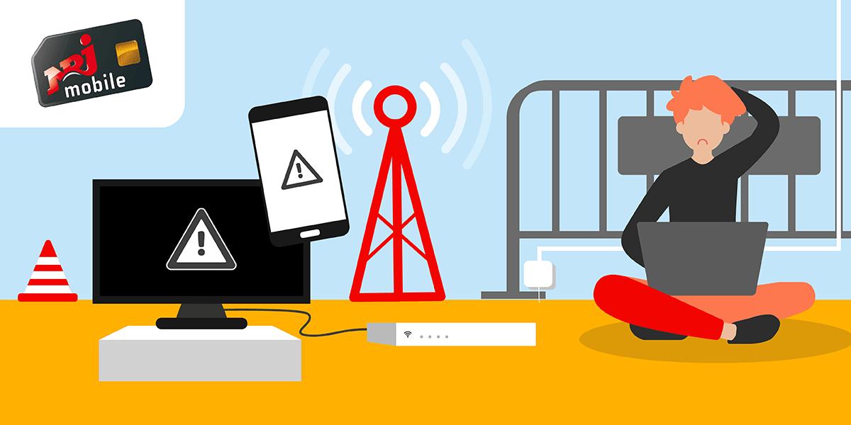 Les problèmes de réseau NRJ Mobile