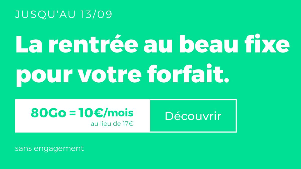 Nouveau RED by SFR forfait pas cher