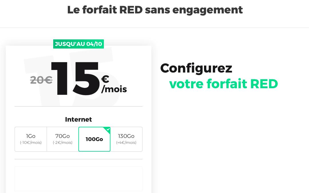 le meilleur des nouveaux forfaits RED by SFR