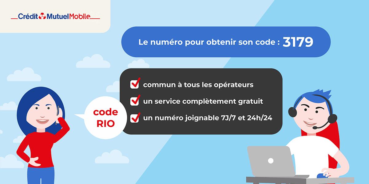 Crédit Mutuel Mobile : trouver son code RIO par téléphone