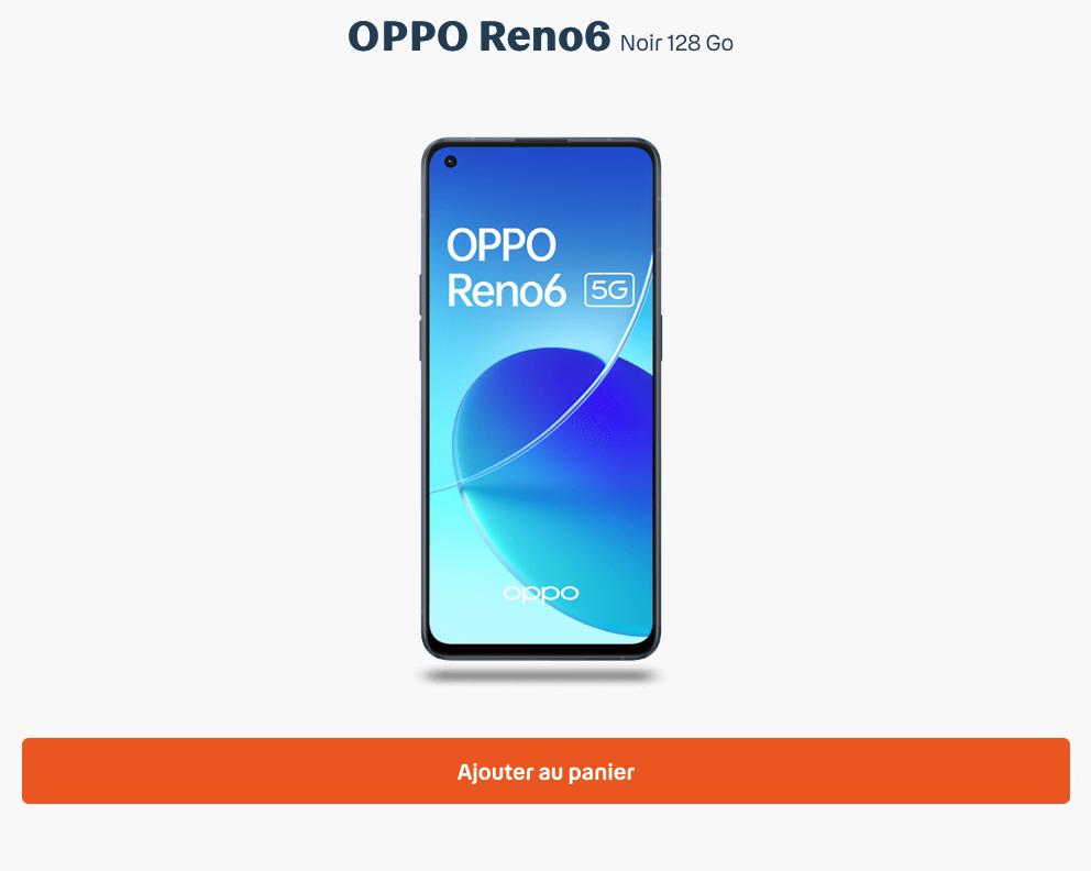 OPPO RENO6 Bouygues