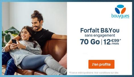 Promo forfait 70 Go B&YOU
