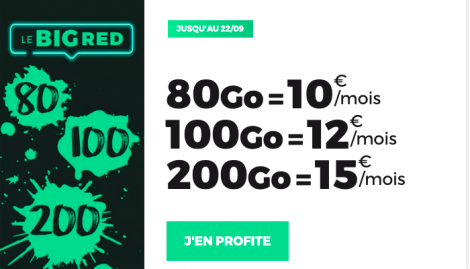 Promo forfait big red by sfr