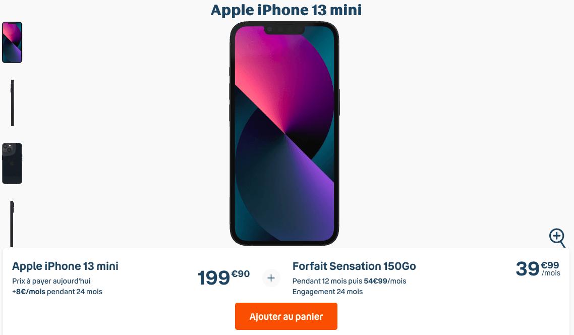 iPhone 13 mini avec Bouygues Telecom