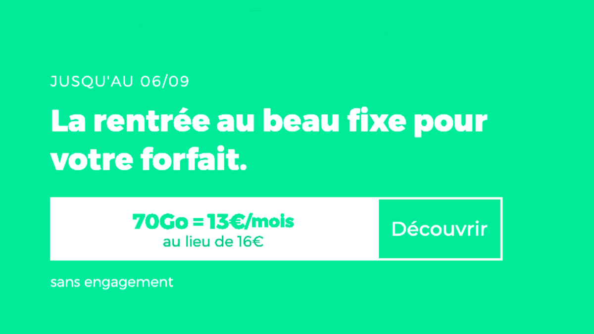 Le forfait mobile 70 Go RED by SFR