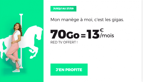 Promo forfait 70 Go RED by SFR