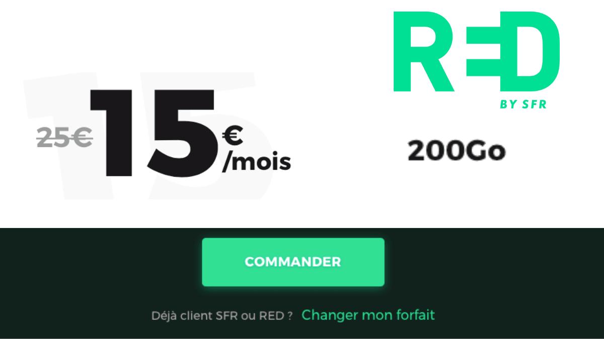 Le forfait mobile 200 Go de RED by SFR