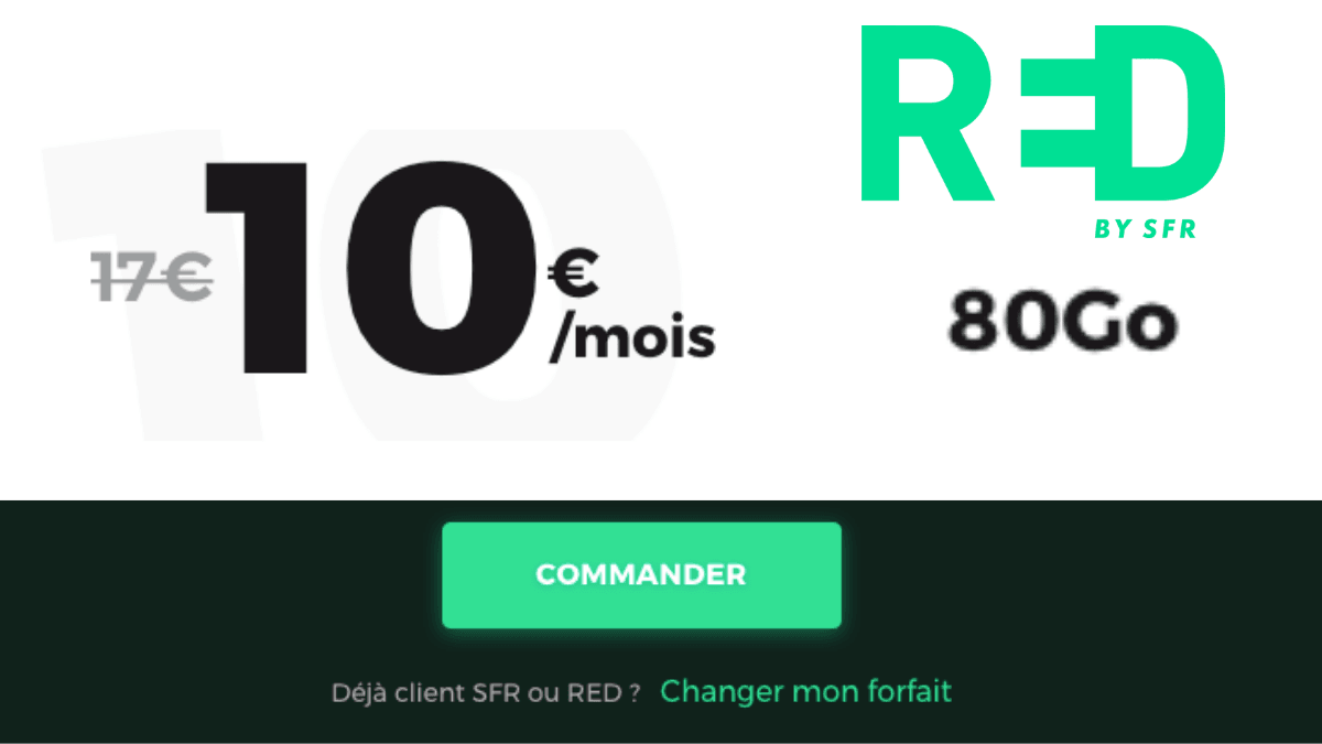 RED by SFR et son forfait 80 Go