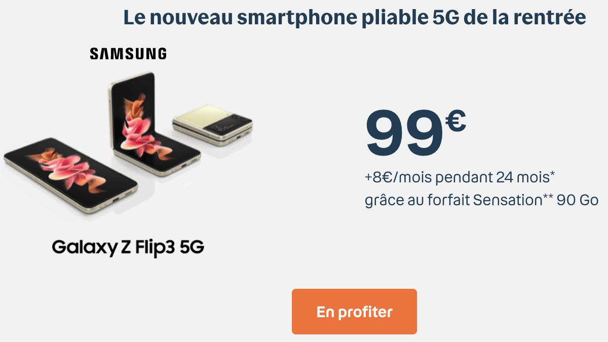 Le Samsung Zflip 3 pour seulement 99€ chez Bouygues