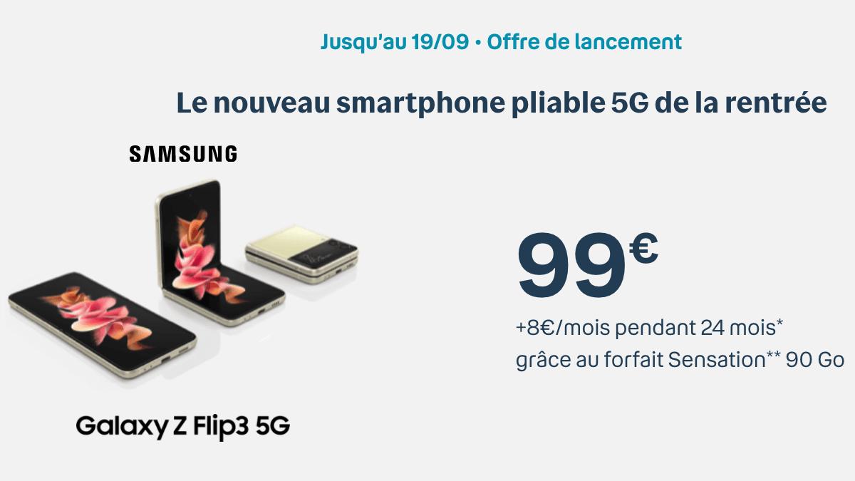 L'offre exclusive de Samsung Zflip 3 à 99€
