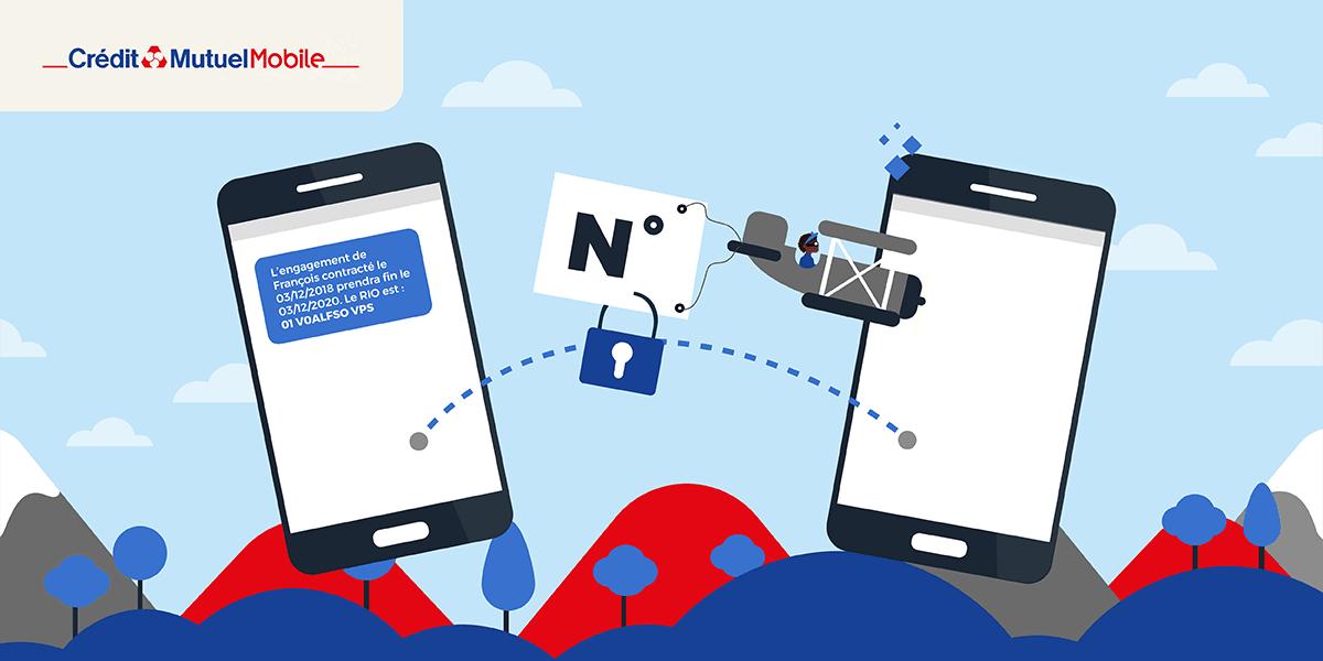 Trouver son code RIO Crédit Mutuel Mobile