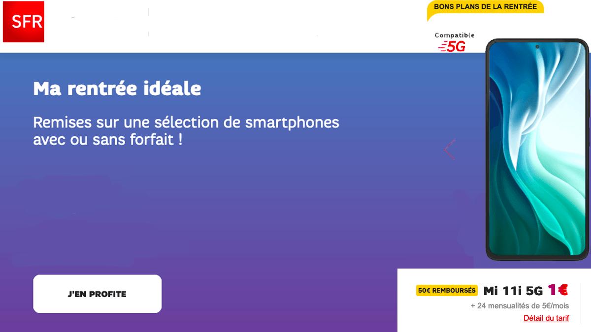 Xiaomi Mi 11 avec SFR, téléphone à 1€