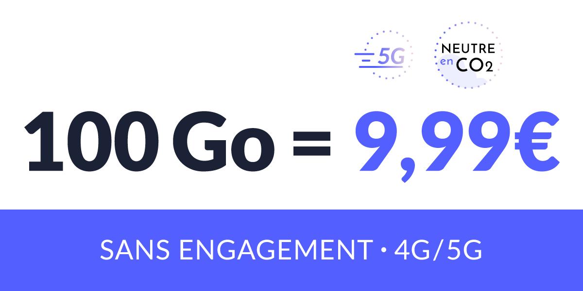 Promotion sur le forfait 4G/5G de Prixtel