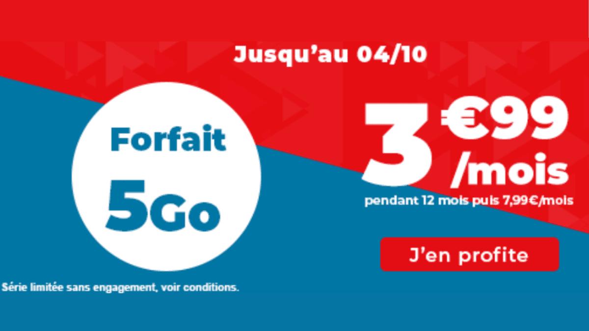 5 Go de forfait pas cher Auchan
