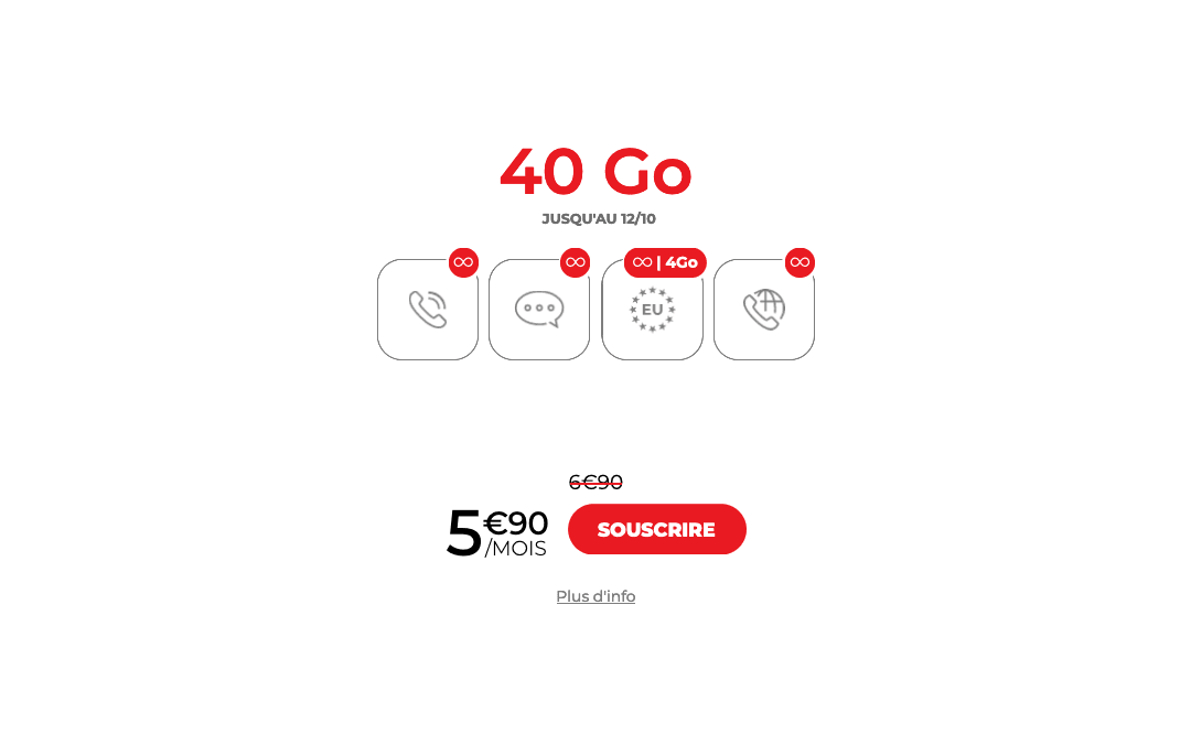 Forfait mobile Syma 40 Go