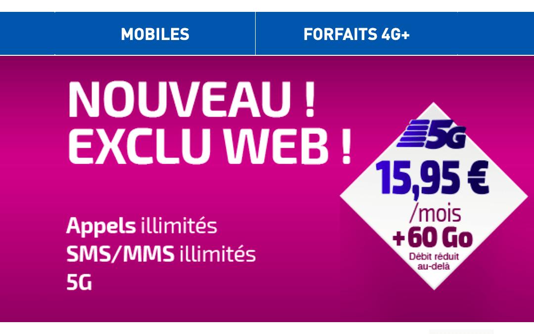 Forfait 5G Réglo Mobile