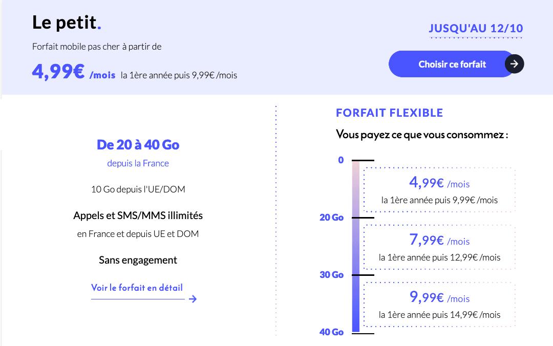 """Forfait mobile """"Le Petit"""" en promotion"""