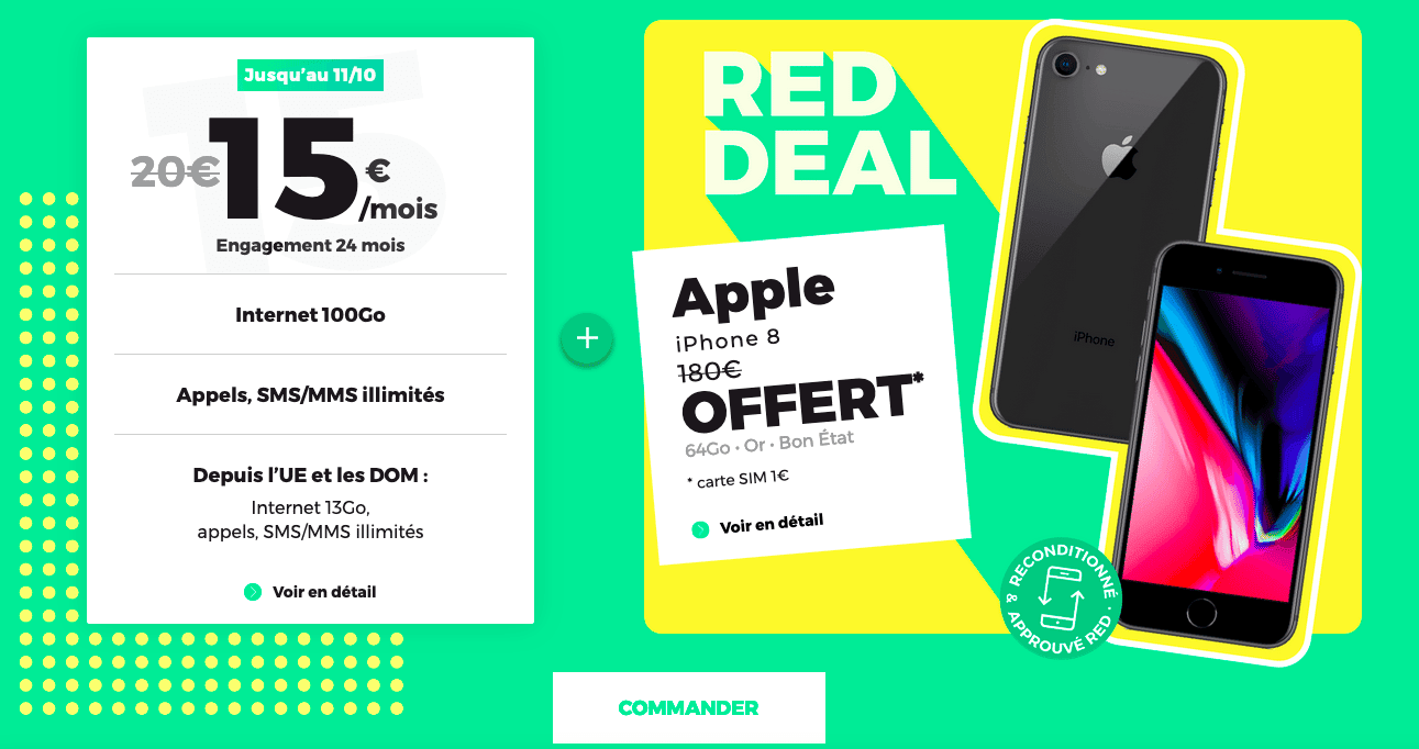 RED Deal avec forfait mobile 100 Go