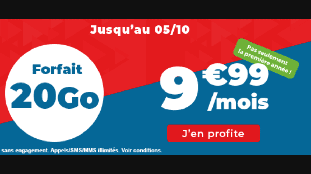 Le forfait mobile pas cher à moins de 10 euros chez Auchan Telecom