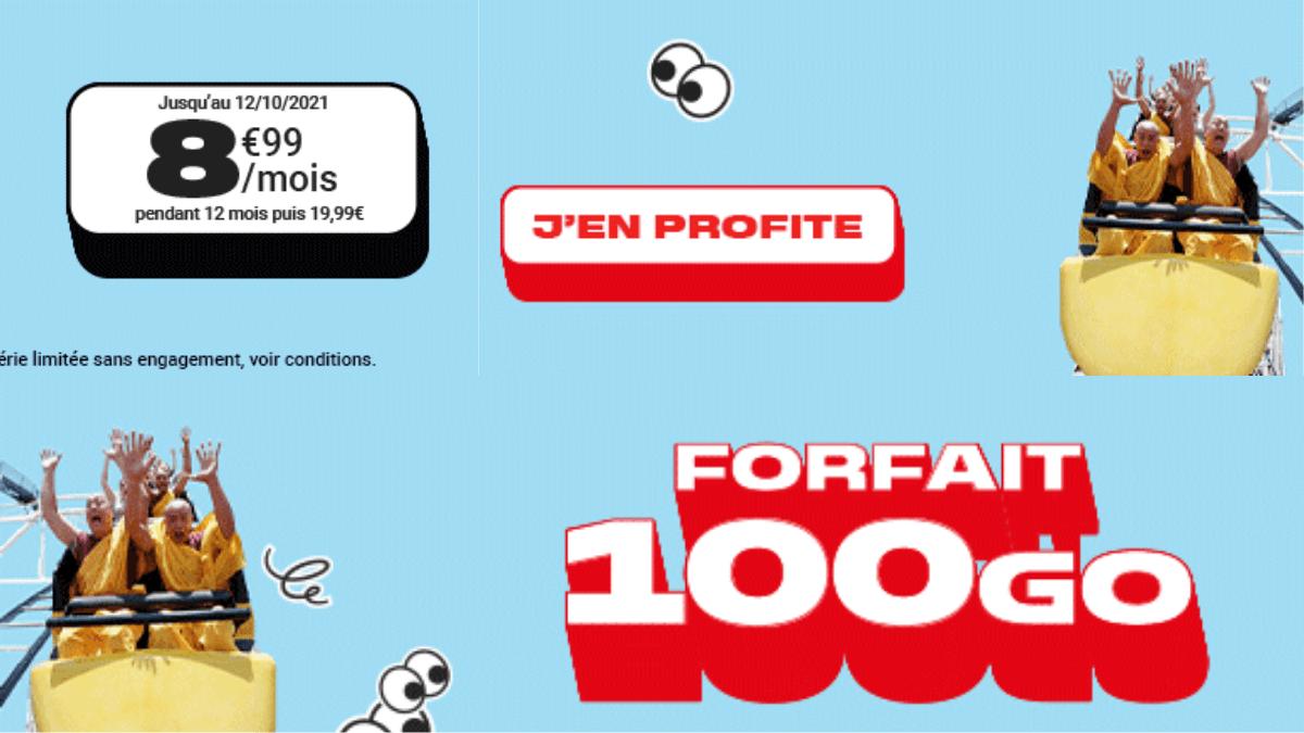 NRJ Mobile et son forfait 100 Go