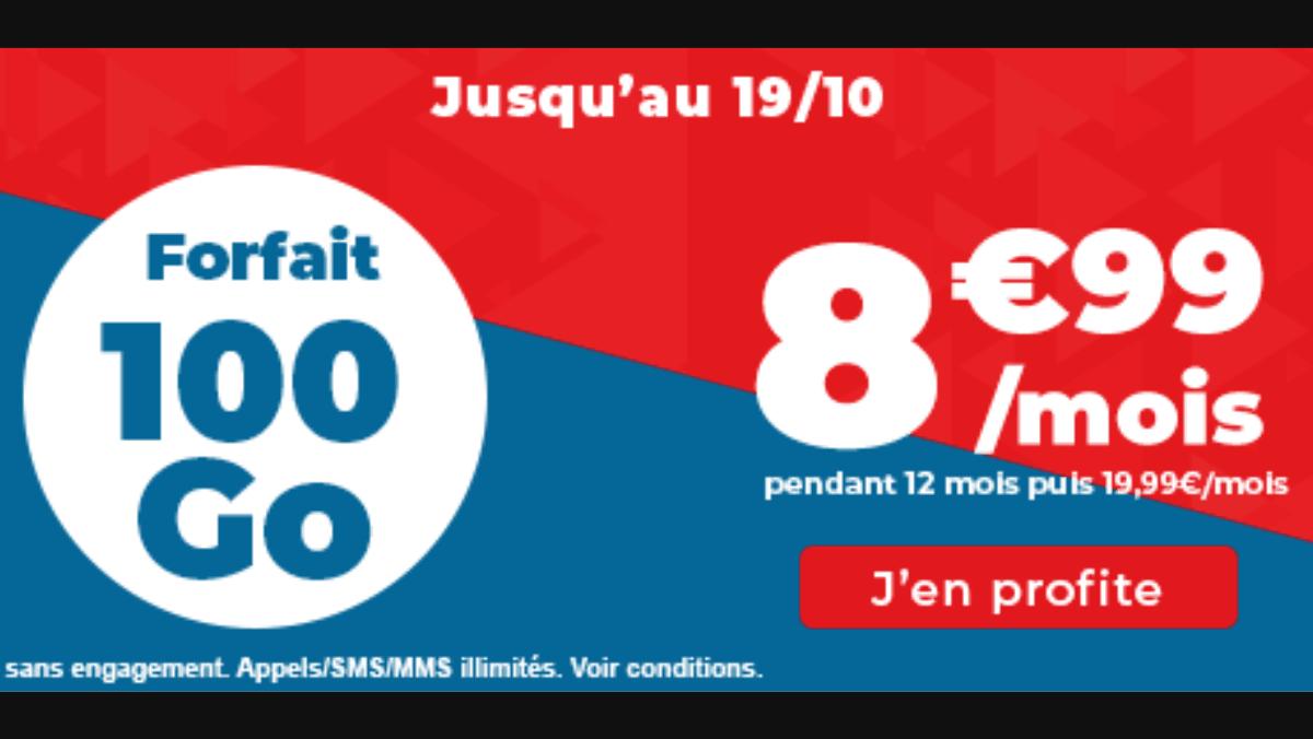 Forfait 100 Go prix cassé Auchan telecom