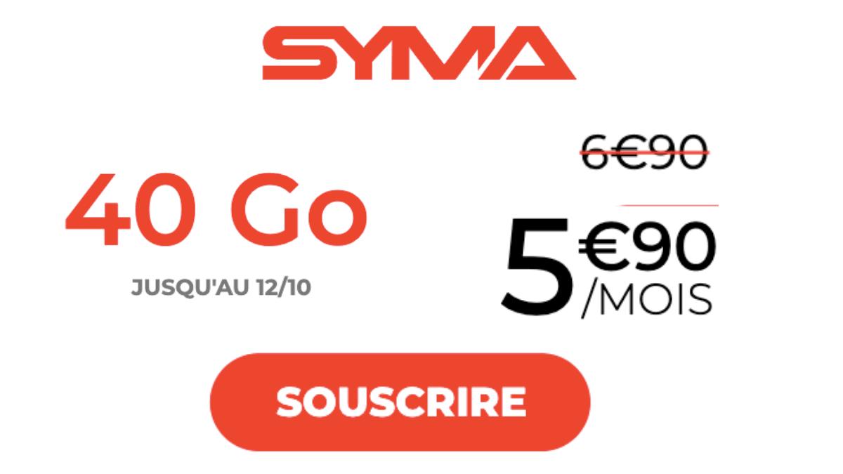 Forfaits mobiles Syma réseau SFR