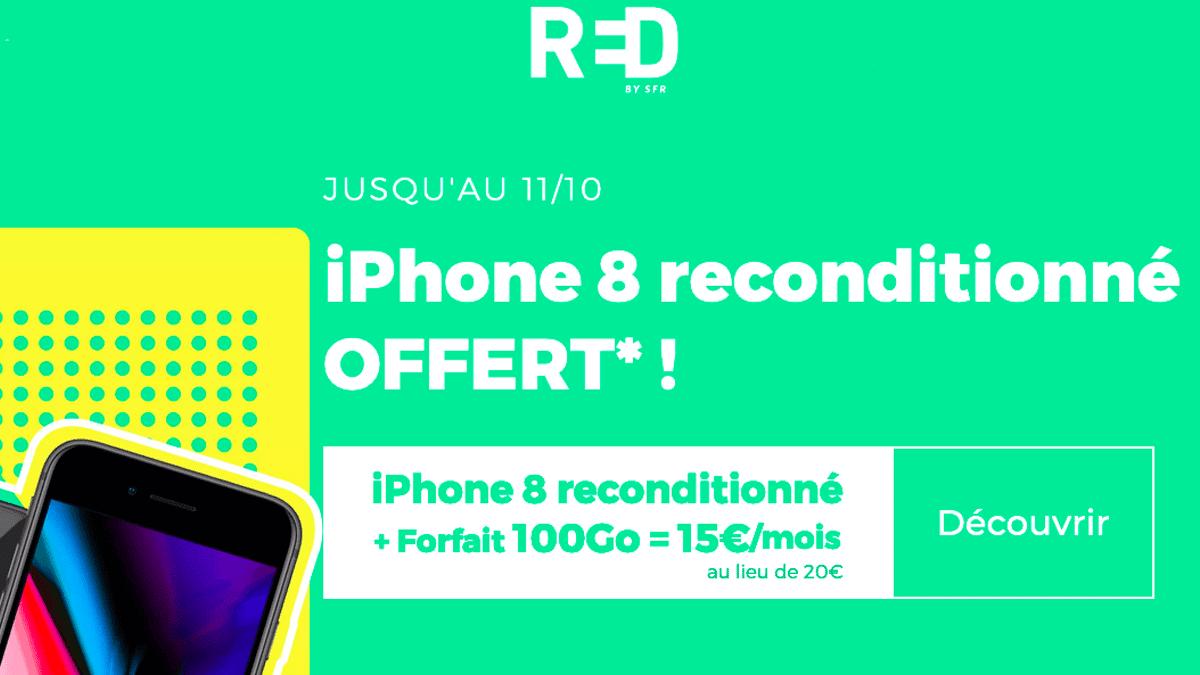 Le forfait mobile avec l'iPhone 8 reconditionné
