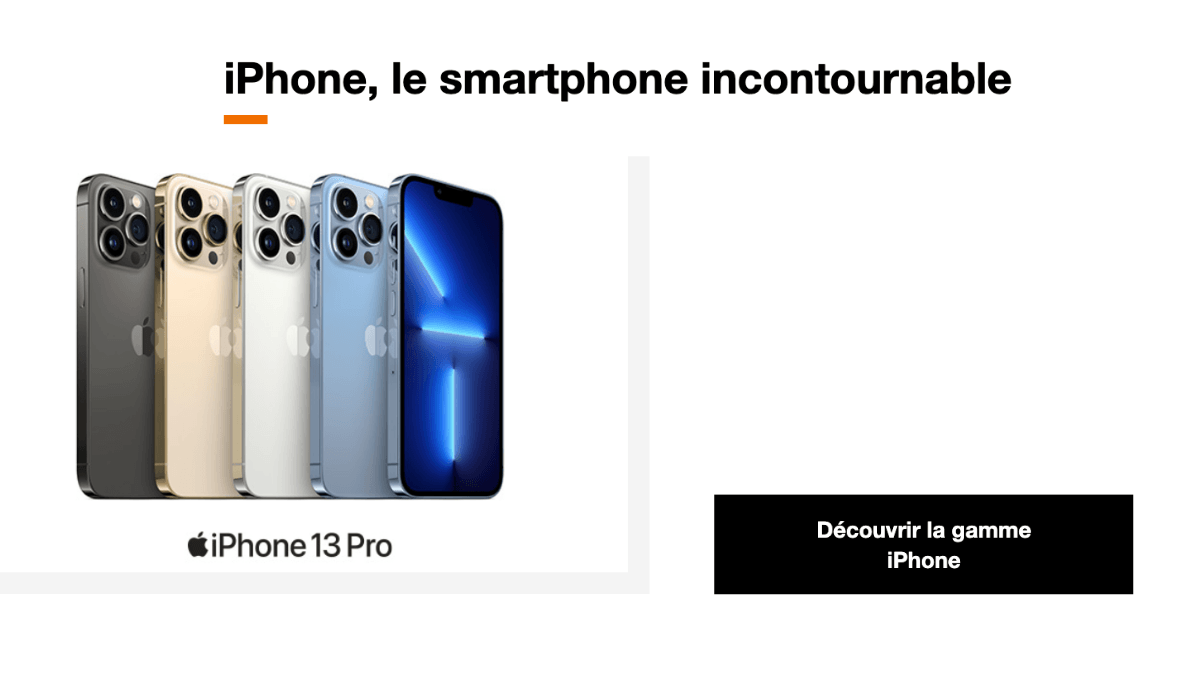 Promotion sur l'iPhone 13 Pro