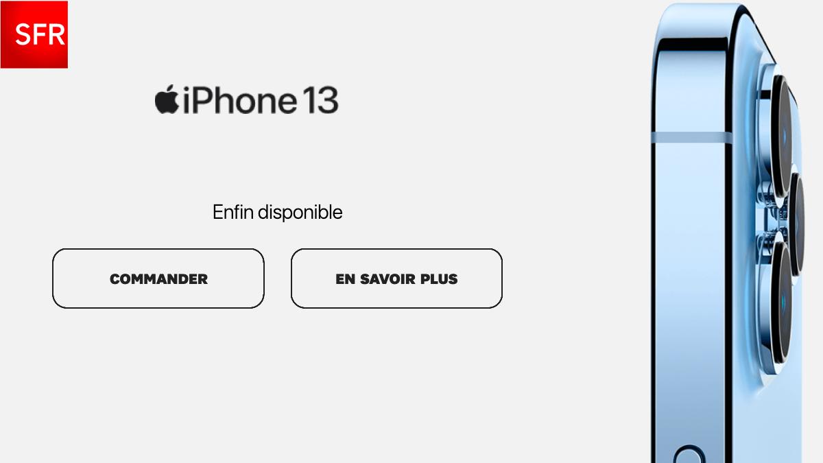 iPhone 13 forfait mobile 120 Go SFR