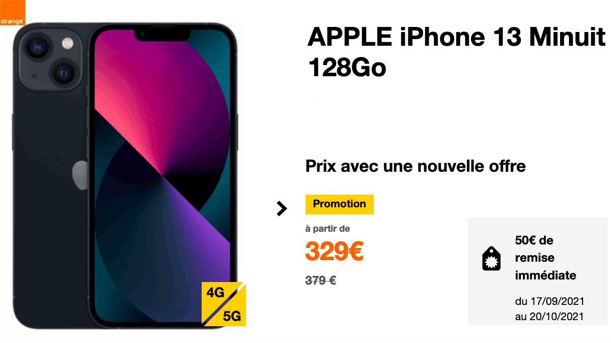 Orange met à disposition un iPhone 13 avec un forfait